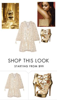 """Golden"" by tessorolara100 ❤ liked on Polyvore featuring Rachel Zoe and GUESS"