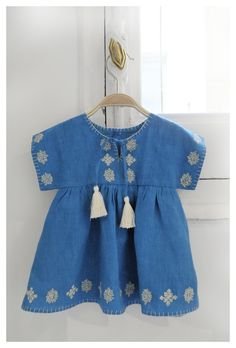 Oliver+S Hide and Seek tunic with embroidery and blanket stitch edge