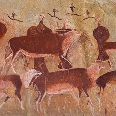 San rock art in the the Gamepass shelter South Africa How old this rock art is is anyone's guess. We do know that there have been people in Southern Africa as long as there have been people. The uncertainties are one of the frustrations and delights of ancient art. The San people certainly painted these figures, perhaps in modern times, but how old is their painting tradition? It conceivably traces its origins to the foundation of human civilization. That urge to make an image that all…