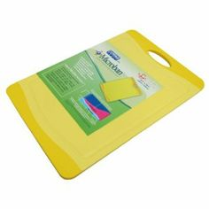 """Microban Antimicrobial Cutting Board Yellow - 14.5""""x10"""" by Uniware. $13.95. Reversible use on both sides. Microban: Antimicrobial Product Protection. Prevents slipping on counterops. Non-porous, non-absorbant. Soft grip with handle. The Microban Cutting Board from Uniware is the perfect cutting board for the health conscious. The cutting board has a soft grip with handle and is dishwasher safe. The cutting board can be reversible, use on both sides, and is non-porous, non absorb..."""
