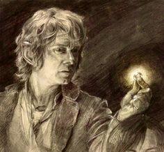 The Hobbit - Bilbo sketch photo-based by wynahiros