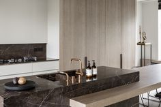 hullebusch - TEMPORARY BROWN - honed and brushed - kitchen