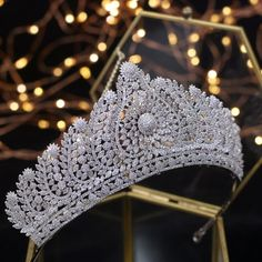Bavoen Top Quality Royal Queen Brides Tiaras Crowns Headpieces Oversize Silver Bridal Hairbands Wedding Hair Accessories Gift-in Hair Jewelry from Jewelry & Accessories on AliExpress Bride Tiara, Headpiece Wedding, Bridal Headpieces, Royal Tiaras, Tiaras And Crowns, Diadem Tattoo, Wedding Hair Accessories, Jewelry Accessories, Pageant Crowns