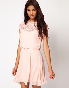 Enlarge ASOS Skater Dress With Daisy Lace