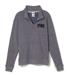 Grey Victoria's Secret quarter zip
