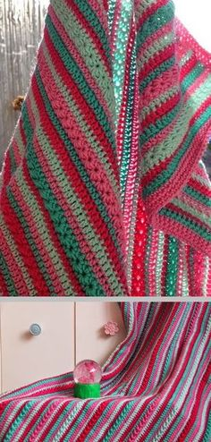 Inspiration :: Simple rows of SC & DC mixed with rows of star stitch for nice contrasting texture .