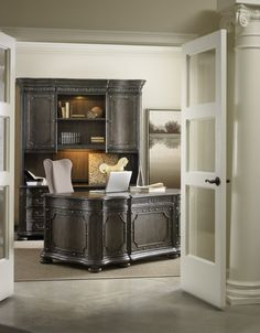 The Vintage West executive home office introduced by Hooker Furniture at the Spring High Point Market.