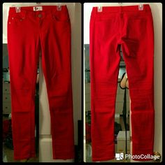 NWOT So Red Skinny Jeans Bright red So skinny jeans, NWOT! Barely worn, in great condition. 3 front pockets, 2 back pockets.  NO Trades NO Paypal SO Pants Skinny