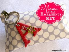 Moms Little Emergency Kit - ideas for creating a mini travel emergency kit (good for moms or anyone) that you can keep in the car or in your bag - good list!