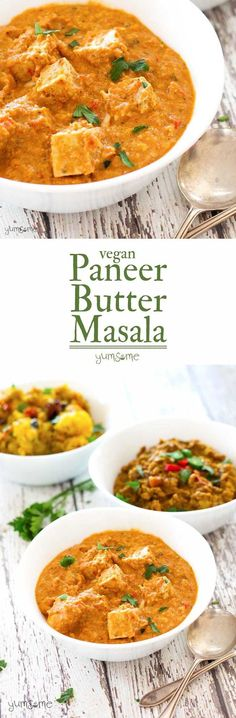 My vegan paneer butter masala is a perfect balance of spiciness and creaminess, and works really well with Indian breads or rice, and starchy curry dishes, such as aloo masala and dal fry. | http://yumsome.com (Vegan Smoothies Rezepte)