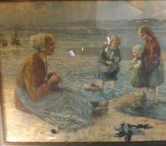 Eugene Mulertt Vintage Signed Seaside Framed by TheRookandSparrows, $55.00