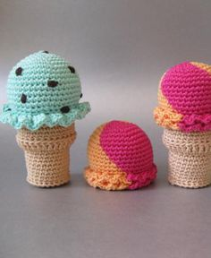 Free Ice Cream Amigurumi Pattern http://wixxl.com/free-amigurumi-patterns/