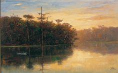 Governor's Creek, Florida,  1873-74,  oil on canvas,  William Morris Hunt,  born Brattleboro, Vt. 1824,  died Appledore, Isle of Shoals, N.H., 1879,  Museum Purchase, 83.4