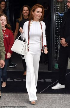 Geri Horner steps out with daughter Bluebell ahead L'Oréal PFW runway Geri Horner, Geri Halliwell, L'oréal Paris, Spice Girls, White Outfits, Petite Fashion, Paris Fashion, Dress Up, White Clothing
