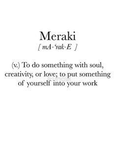 'Meraki' Sticker by Eunoia - Zitate Unusual Words, Weird Words, Rare Words, Unique Words, New Words, Cool Words, Latin Words, Powerful Words, Creative Words