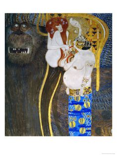The Beethoven Frieze 1902 de Gustav Klimt :: PicassoMio