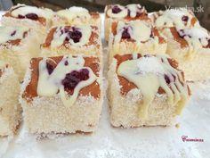 Jemný kokosový zákusok s mascarpone krémom (fotorecept) Tiramisu, Ale, Cheesecake, Birthday Cake, Treats, Sweet, Cake Ideas, Food, Mascarpone