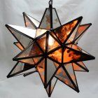 "Glass Star Light Fixture, 18"", Antique Mirrored"