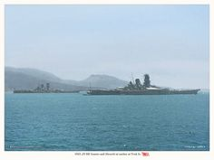 Superships together, IJN Yamato and IJN Musashi at Truk in 1943. | Flickr - Photo Sharing!