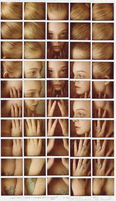 Elle Fanning Polaroid grid portrait (Maurizio Galimberti)