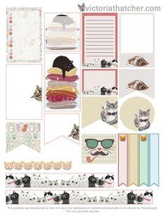 Free Cats Planner Stickers | Victoria Thatcher
