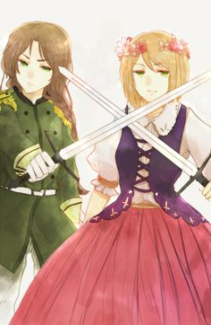 Poland and Lithuania fem! Hetalia Characters, Female Characters, Otp, Lithuania Hetalia, Spamano, Hetalia Axis Powers, Valley Girls, One Punch Man, Homestuck