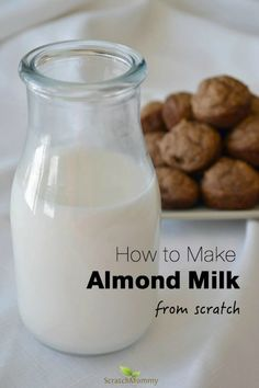 One of the easiest things you can make is almond milk from scratch since most store-bought versions contain unnecessary ingredients! Click to learn more.
