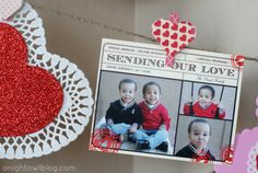 Tiny Prints Valentine's Day Card display by Kimberly Sneed from A Night Owl Blog.