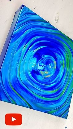 Acrylic Pouring technique - easy and beautiful ripple effect. Fluid Art tutorial by Olga Soby from Smart Art Materials Pour Painting Techniques, Acrylic Pouring Techniques, Acrylic Pouring Art, Acrylic Art, Art Techniques, Canvas Photo Transfer, Photo Canvas, Flow Painting, Smart Art