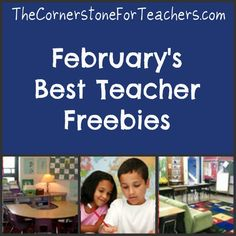 February's Best Teacher Freebies: printables for every grade level PreK-12! Valentine's Day, Groundhog Day, President's Day, Black History Month, National Children's Dental Health Month, and winter, along with freebies for use all throughout the school year.