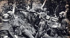 A heavily armed squad of German Infantry in the hedgerows of Normandy. This is what opposed the Allies as they attempted to push through. The Germans deployed a larger percentage of automatic weapons in an Infantry squad than the Allies. Despite this the Allies were able to wear down the Germans anyway.