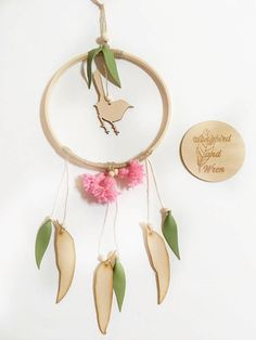 Bring the peaceful feel of the Australian bushland into your home with our gorgeous large Wren Wall Hoop. Inspired by beautiful Australian wildlife and bushland, this special wall hanging features a sweet little wren in its centre. Our Wren Wall Hoop showcases the adorable silhouette