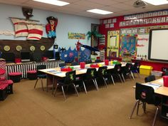 This is my first grade pirate classroom.