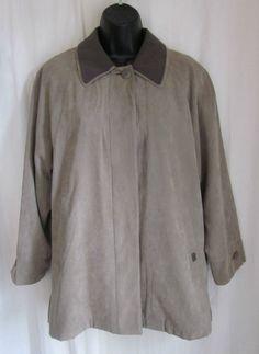 LONDON FOG Women's Beige Removable Zip Warmer Microsuede Jacket SP Small Petite #LondonFog #BasicJacket