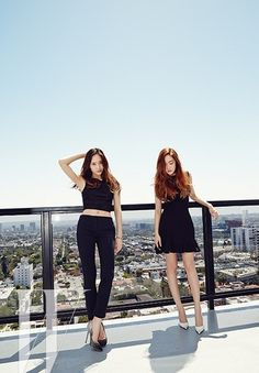 Jessica and Krystal provide a peek at their glamorous stay in LA in 'W Korea' pictorial | allkpop.com