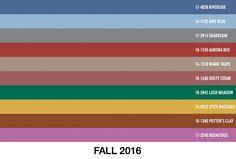 Pantone Fashion Color Report FALL 2016 | 6/10 | Dusty Cedar - Unha Bonita