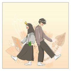 kumpulan anime kartun romantis anyar - my ely Cute Couple Art, Anime Love Couple, Couple Cartoon, Cute Cartoon Pictures, Cartoon Pics, Cartoon Art, Cute Muslim Couples, Cute Anime Couples, Islamic Cartoon