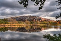 Enchanted Rock, Fredericksburg, TX. Legend states Tonkawa Indians believed a Spanish conquistador cast a spell on it.