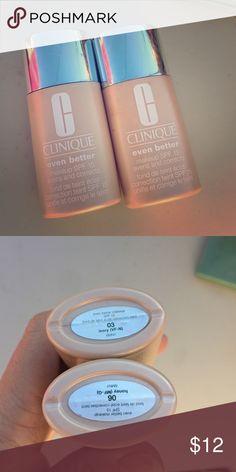 Clinique foundation Even better, both re half left Clinique Makeup Foundation