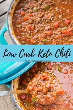 This low carb chili is perfect for keto or any low carb diet. It is so easy to make & trust me, you will not miss the beans! Low Carb Chili Recipe, Chili Recipes, Ketogenic Recipes, Keto Recipes, Antipasto Salad, Low Carb Crackers, Homemade Soup, Keto Meal Plan, Low Carb Diet