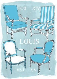 The styles of 'Louis' chairs