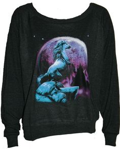 "UNICORN Pullover Slouchy ""Sweatshirt""  Top American Apparel Black M"