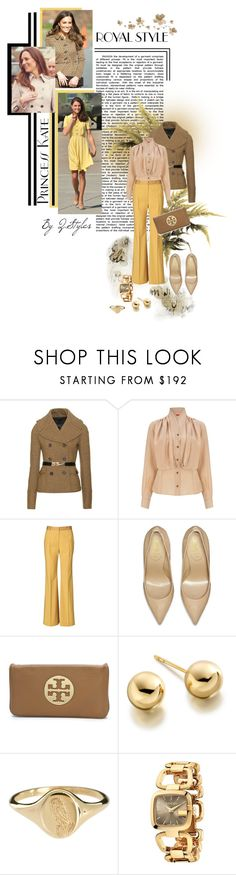"""Styling : Kate Middleton - Casual Chic"" by q-styles ❤ liked on Polyvore featuring Burberry, Vivienne Westwood Red Label, By Malene Birger, Yves Saint Laurent, Metropolis, Tory Burch, Astley Clarke, Laura Lee and Gucci"
