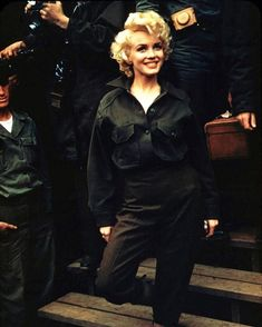 Marilyn Monroe. Looks Like She May Be Entertaining The Troops With The USO!