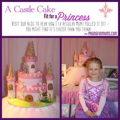 Princess Castle Cake - made by me…a regular Mum! Castle Birthday Cakes, Castle Cakes, Castle Party, Bolo Minnie, First Communion Cakes, Paris Cakes, Horse Cake, Book Cakes, Character Cakes