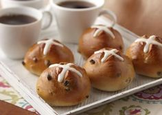I found this recipe for Hot Cross Buns, on Breadworld.com. You've got to check it out!