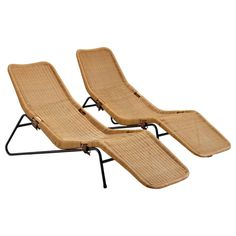 5950. per item 1500. ship 33.07in.Hx72.83in.Wx23.62in.D Set of Two Chaise Lounges in Cane 1