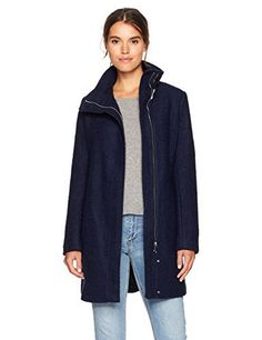 """Calvin Klein Fall 2017 Asymetrical Boucle Wool Coat       Famous Words of Inspiration...""""All that is not eternal is eternally out of date.""""   C.S. Lewis — Click here for more from C.S....  More details at https://jackets-lovers.bestselleroutlets.com/ladies-coats-jackets-vests/wool-pea-coats/product-review-for-calvin-klein-womens-asymmetrical-boucle-wool-coat/"""