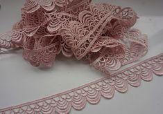 Spitzenborte - Spitzenrand,Rouge rosa,Dekor Kleidung - ein Designerstück von svetavol bei DaWanda