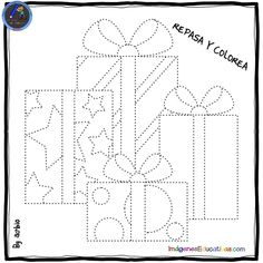 REPASA Y COLOREA – Imagenes Educativas String Art Templates, String Art Patterns, Embroidery Cards, Christmas Embroidery Patterns, Preschool Christmas, Christmas Art, Candlewicking Patterns, Stitching On Paper, Sewing Cards